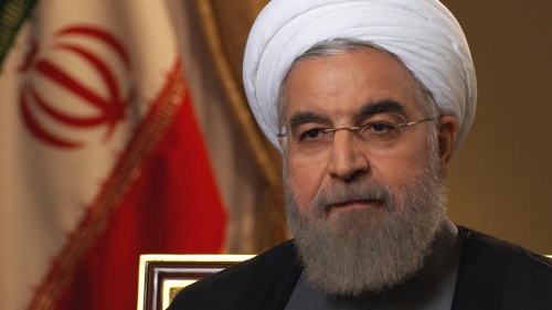 Iranian President Rouhani, seen here being not entertained.