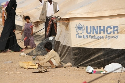 A UN refugee camp just across the sea in Djibouti.
