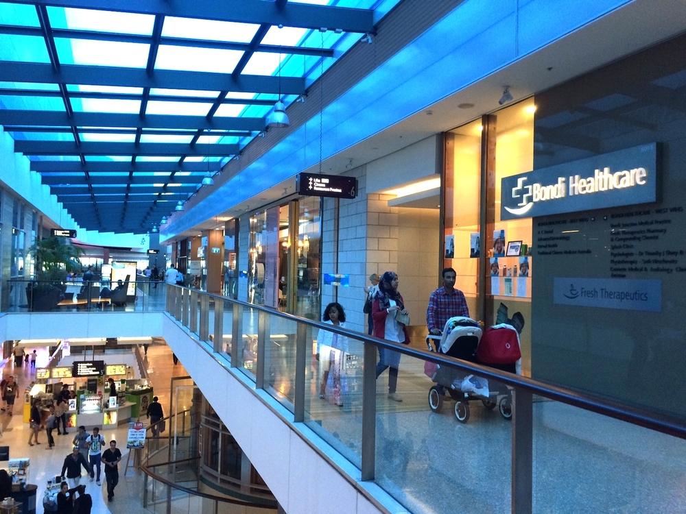 Proceed down Healthcare Corridor towards Event Cinemas