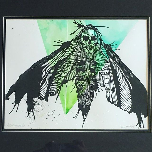 Green Moth-  For Sale.