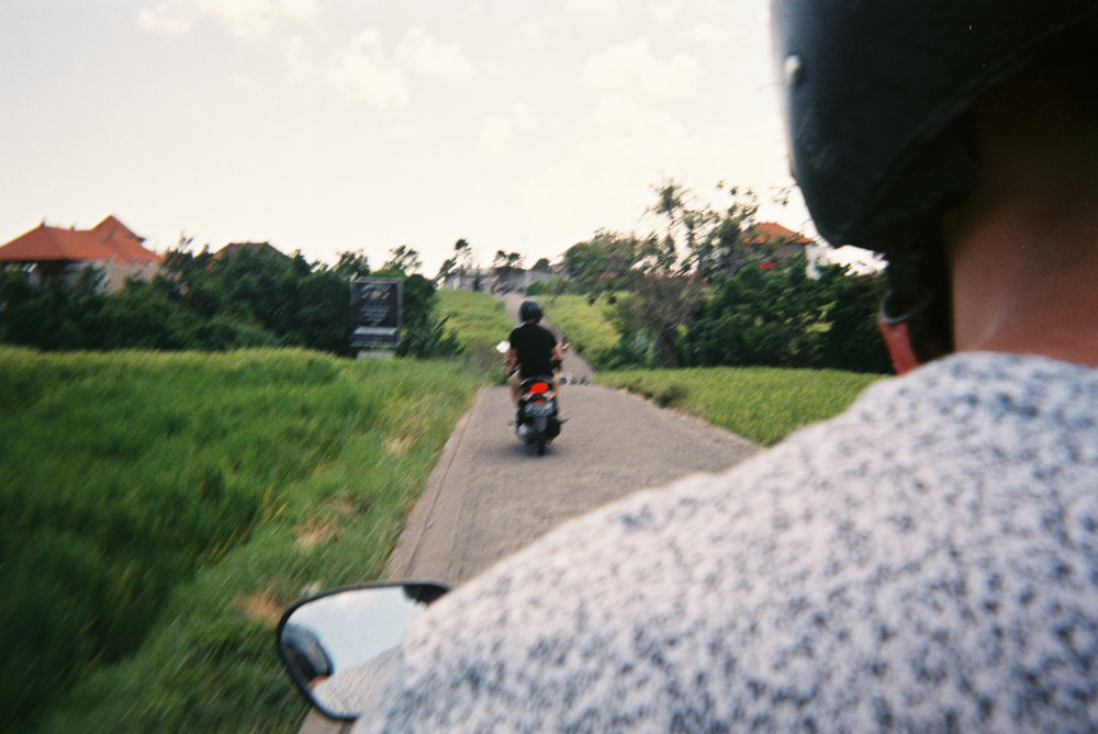 "My faaaavorite road in Bali. This is the ""shortcut"" in canguu. Go at sunset. Thank me later."