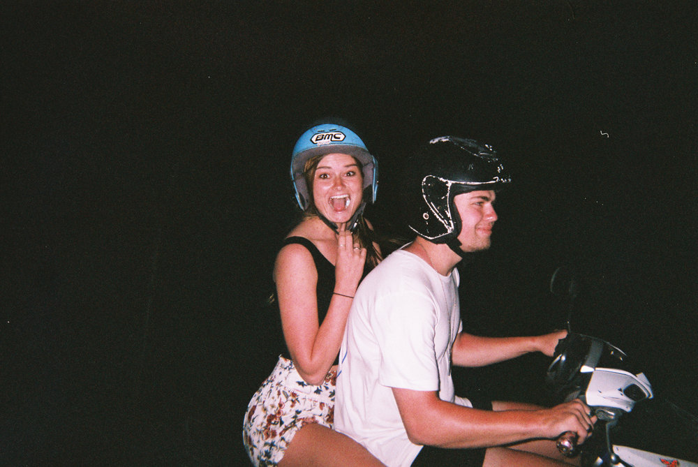 Just another happy scooter picture. We were on our way to 'Heavens Gates' in the craziest storm, and we were geeeeeking out it was so cool. Love them.