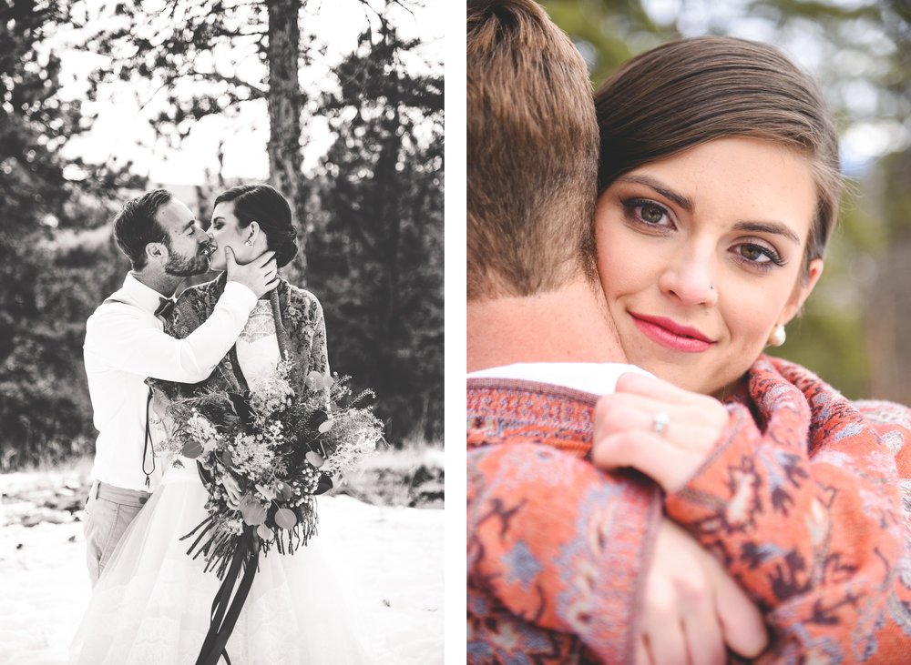 rocky mountain elopement, bride and groom portraits pikes peak, colorado wedding photographer, denver wedding photographer, colorado elopement photographer, colorado intimate and small wedding photographer,