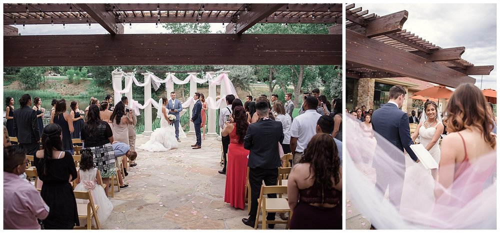 wedding ceremony, Baldoria on the water wedding, Colorado wedding photographer, denver wedding photographer, intimate colorado wedding photographer, downtown denver wedding photographer,