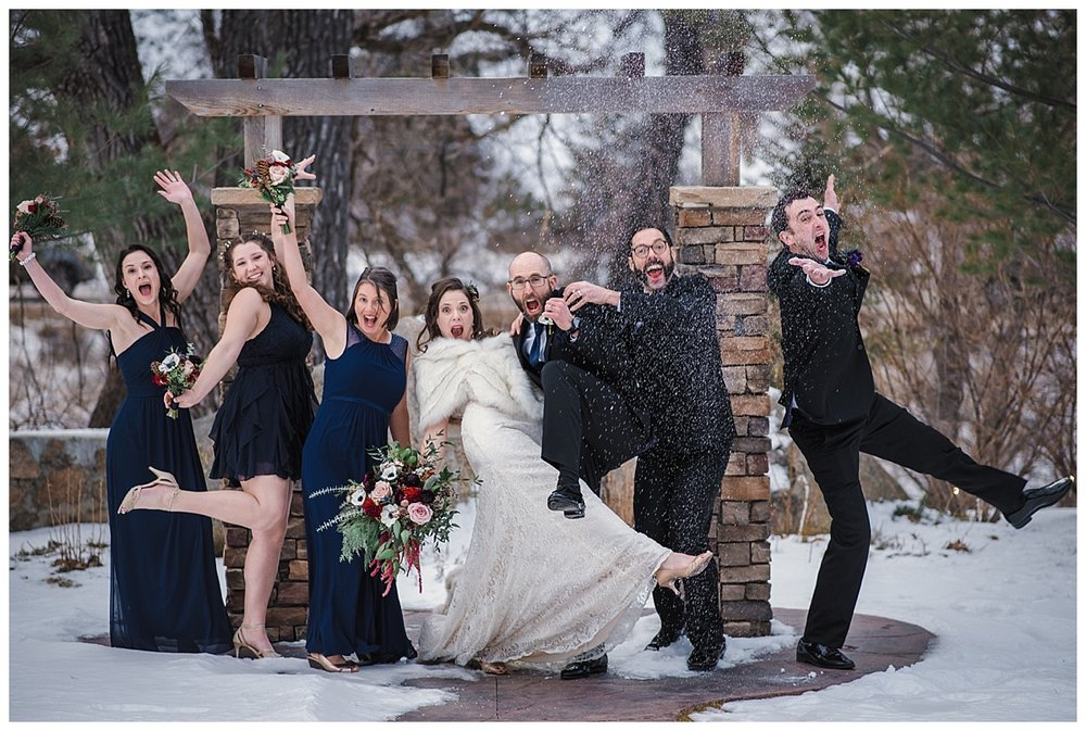 bridal party portraits, Winter wedding in Boulder, Maroon and Navy wedding, Boulder Creek, Wedgewood on Boulder Creek, Rocky mountain adventure elopement, colorado wedding photographer, denver wedding photography, denver elopement photographer, colorado elopement photographer, Rocky Mountain Adventure Elopements, looks like film colorado, best wedding photographer colorado, best wedding photographer denver, downtown denver wedding, downtown wedding photographer, colorado photographer, denver photographer, rocky mountains, colorado wedding, denver wedding, couples portraits wedding, colorful wedding, love couples wedding photos, romantic wedding photos, fine art denver photographer, fine art colorado photographer,