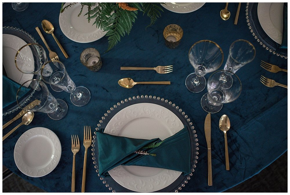 Navy tablescape, gold silverware, Rocky mountain adventure elopement, colorado wedding photographer, denver wedding photographer, denver elopement photographer, colorado elopement photographer, best wedding photographer colorado, best wedding photographer denver