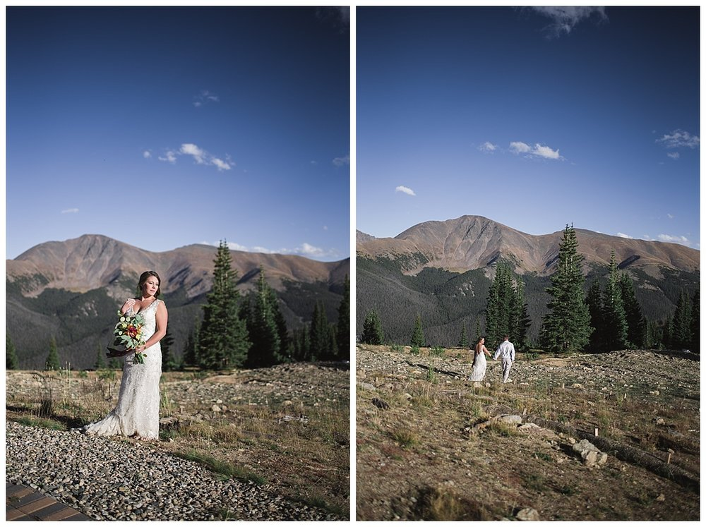 bride and groom on mountain, Rocky mountain adventure elopement, colorado wedding photographer, denver wedding photographer, denver elopement photographer, colorado elopement photographer, best wedding photographer colorado, best wedding photographer denver, winter park wedding