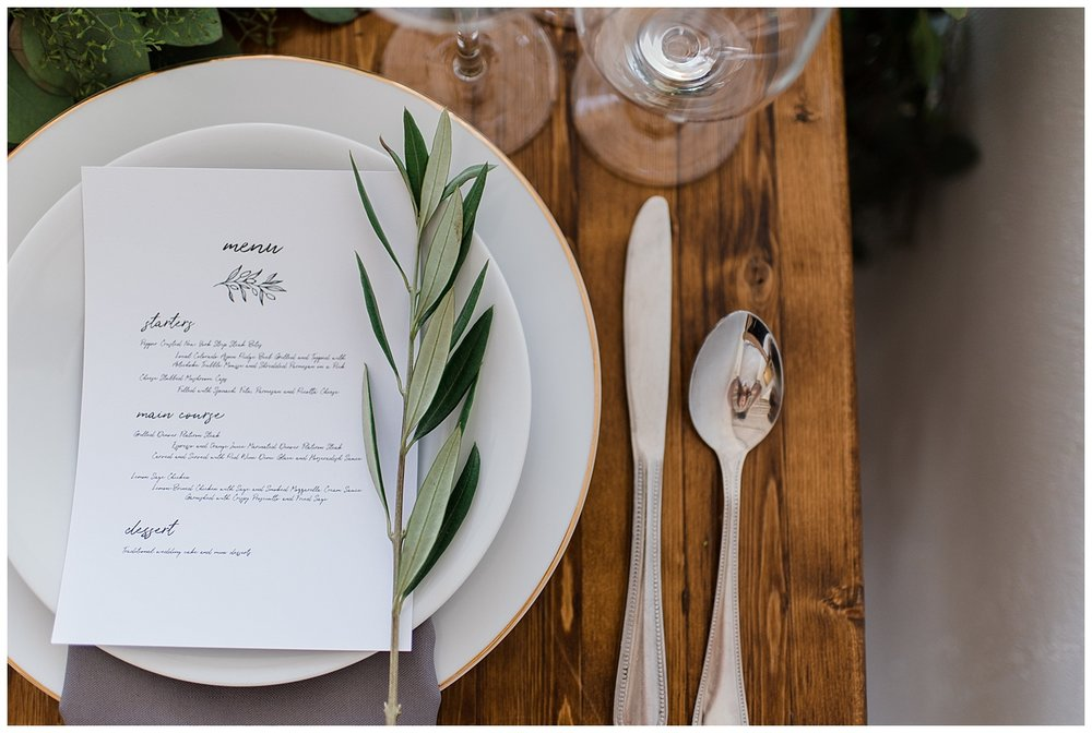 Denver Wedding Photographer, Colorado Wedding Photographer, Downtown Denver Wedding Photographer, Colorado Fine Art Photographer, Rocky Mountain Elopement, Rocky Mountain Wedding, Colorado Elopement Photographer, Denver Elopement Photographer, Stationery flatlay, Silverware, Fine crystal glasses, Wedding Menu