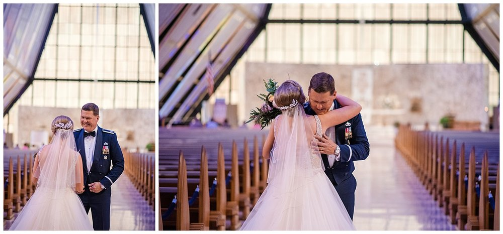 USAFA Chapel Wedding, Cadet Chapel Wedding, Colorado Springs Wedding Ceremony, Empty Chapel before Wedding, Stained Glass Chapel, First Look, Colorado Wedding Photographer, Denver Wedding Photographer, Denver Elopement Photographer, Colorado Elopement Photographer, Rocky Mountain Wedding Photographer, Downtown Denver Photographer
