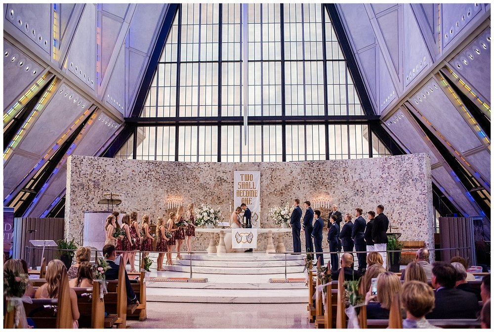Military Wedding, Cadet Chapel Wedding, wedding ceremony, unity ceremony with bride and groom, Colorado Wedding Photographer, Denver Wedding Photographer, Denver Elopement Photographer, Colorado Elopement Photographer, Rocky Mountain Wedding Photographer, Downtown Denver Photographer