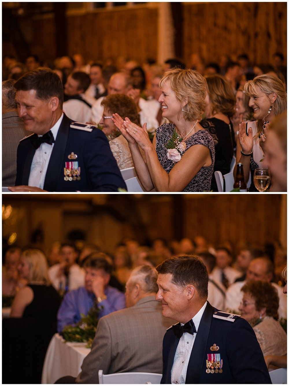 Military Wedding, wedding reception guest photos, smiling parents, Colorado Wedding Photographer, Denver Wedding Photographer, Denver Elopement Photographer, Colorado Elopement Photographer, Rocky Mountain Wedding Photographer, Downtown Denver Photographer, colorado springs wedding photographer
