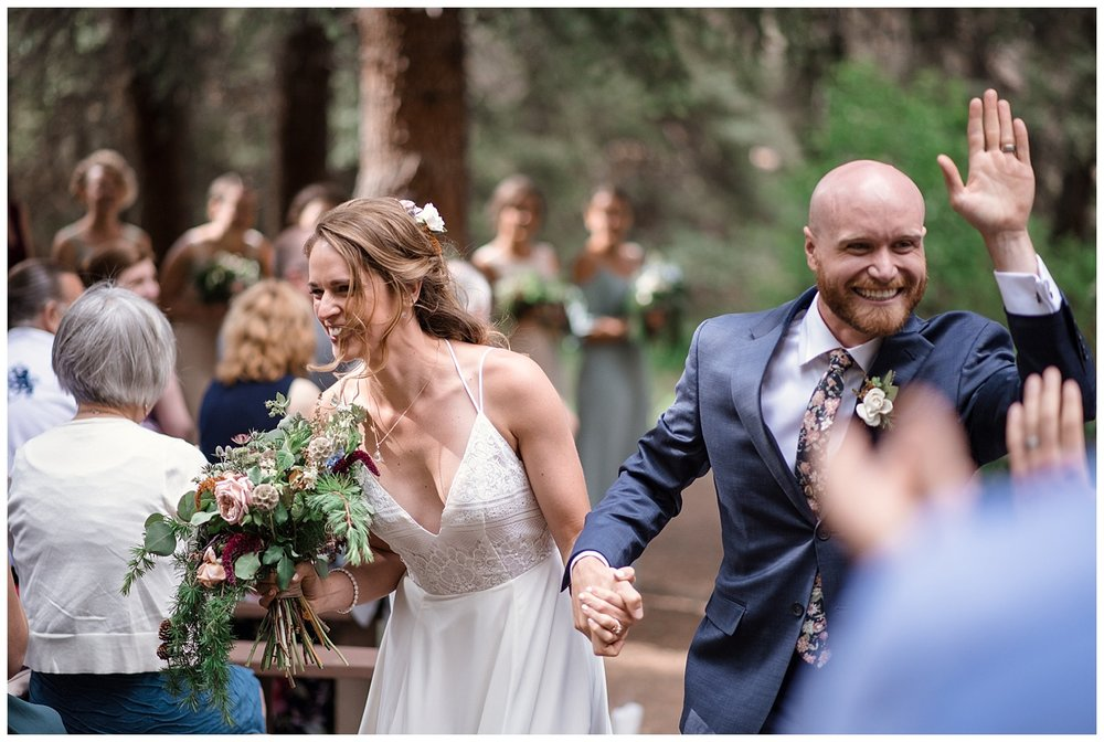 wedding ceremony at Beaver Ranch in Conifer Colorado, Colorado Wedding Photographer, Rocky Mountain Wedding Photographer, Intimate Colorado Wedding Photographer