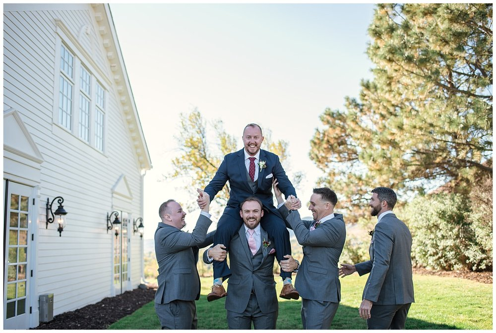 Groom and groomsmen portraits at the historic Manor House, Rocky Mountain Wedding Photographer, Colorado Wedding Photographer, Denver Wedding Photographer, Colorado Intimate Elopement Photographer, Downtown Denver Photographer, Rocky Mountain Adventure Elopement,