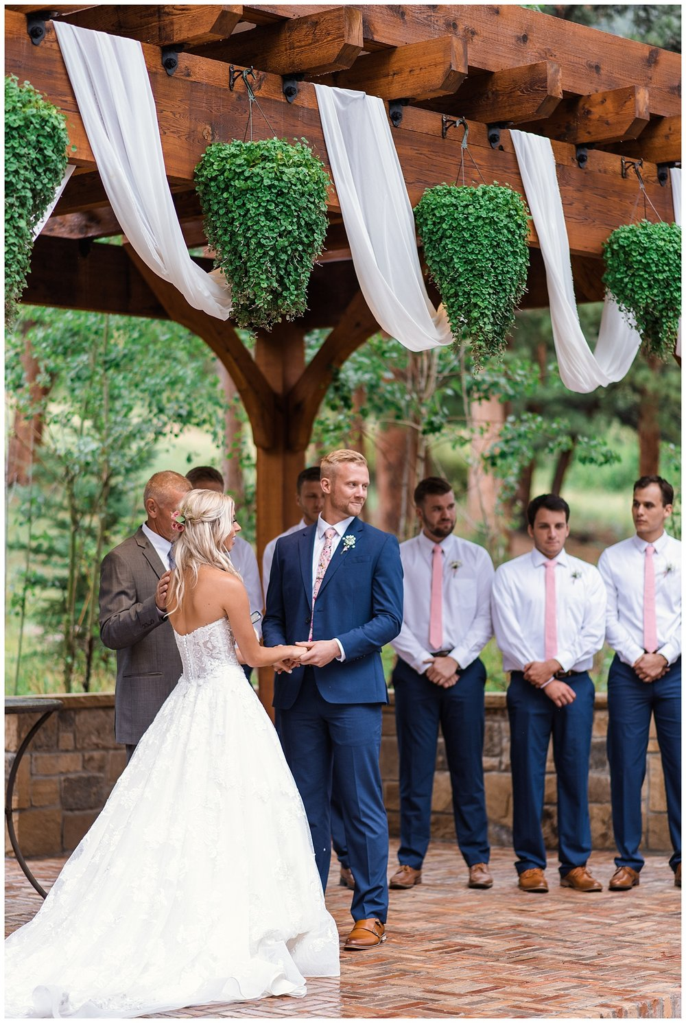 wedding ceremony in estes, Della Terra Mountain Chateau wedding, Estes park wedding, estes park wedding photographer, Colorado wedding photographer, rocky mountain wedding photographer, intimate colorado wedding photographer, small wedding photographer colorado,