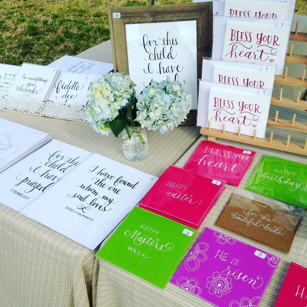 """Bless Your Heart"" notecard sets (copyright by every true southern lady) and handmade greeting cards."