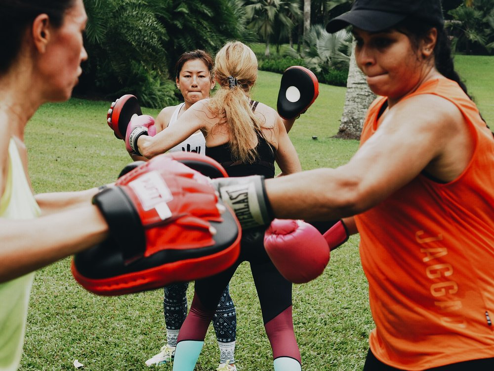 boxfit  A full body cardio workout that conditions your entire body and provides increased agility, speed, coordination and endurance.    Read more →