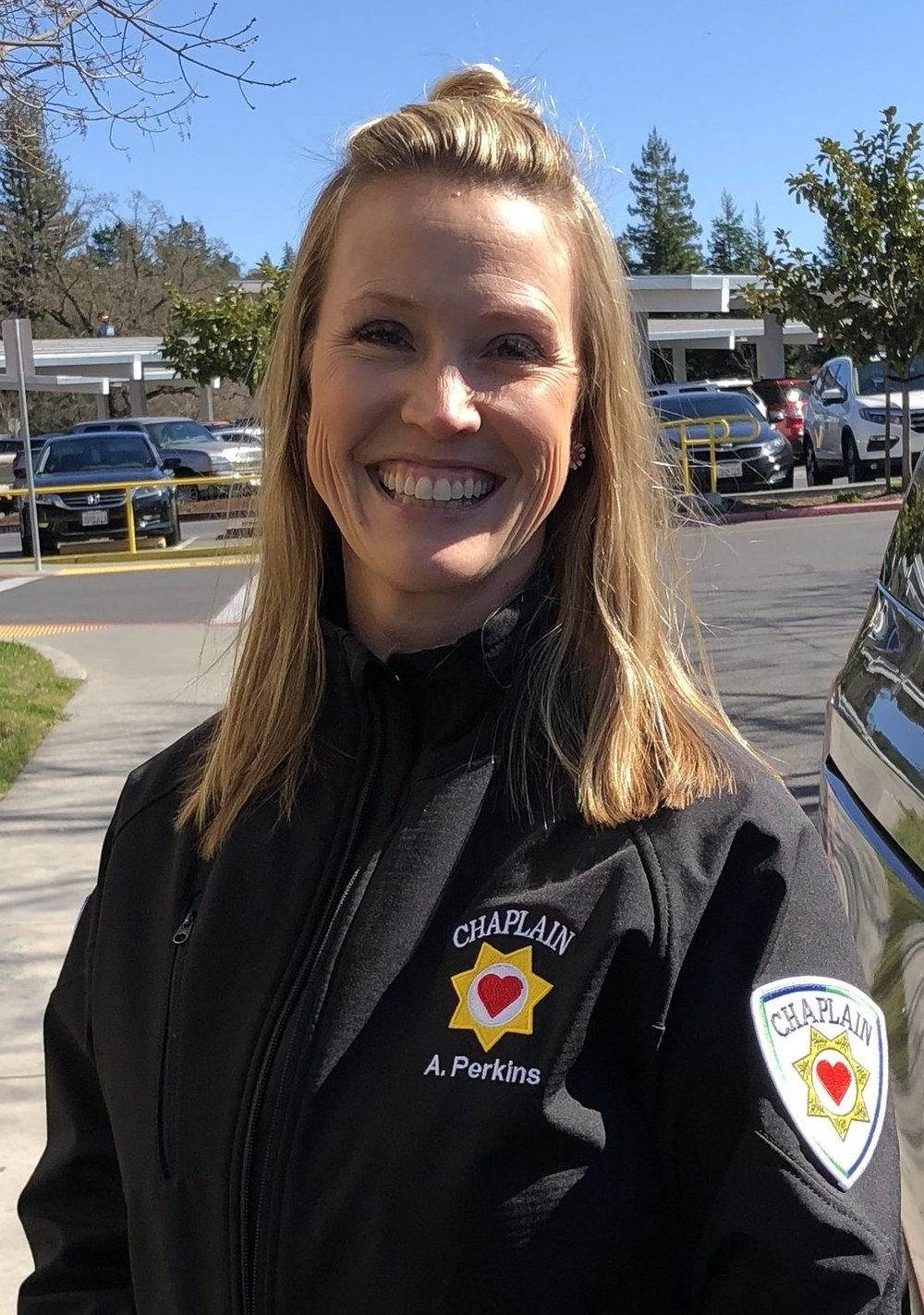 Chaplain Angela Perkins on call and ready to serve Sonoma County for the next 24hours.