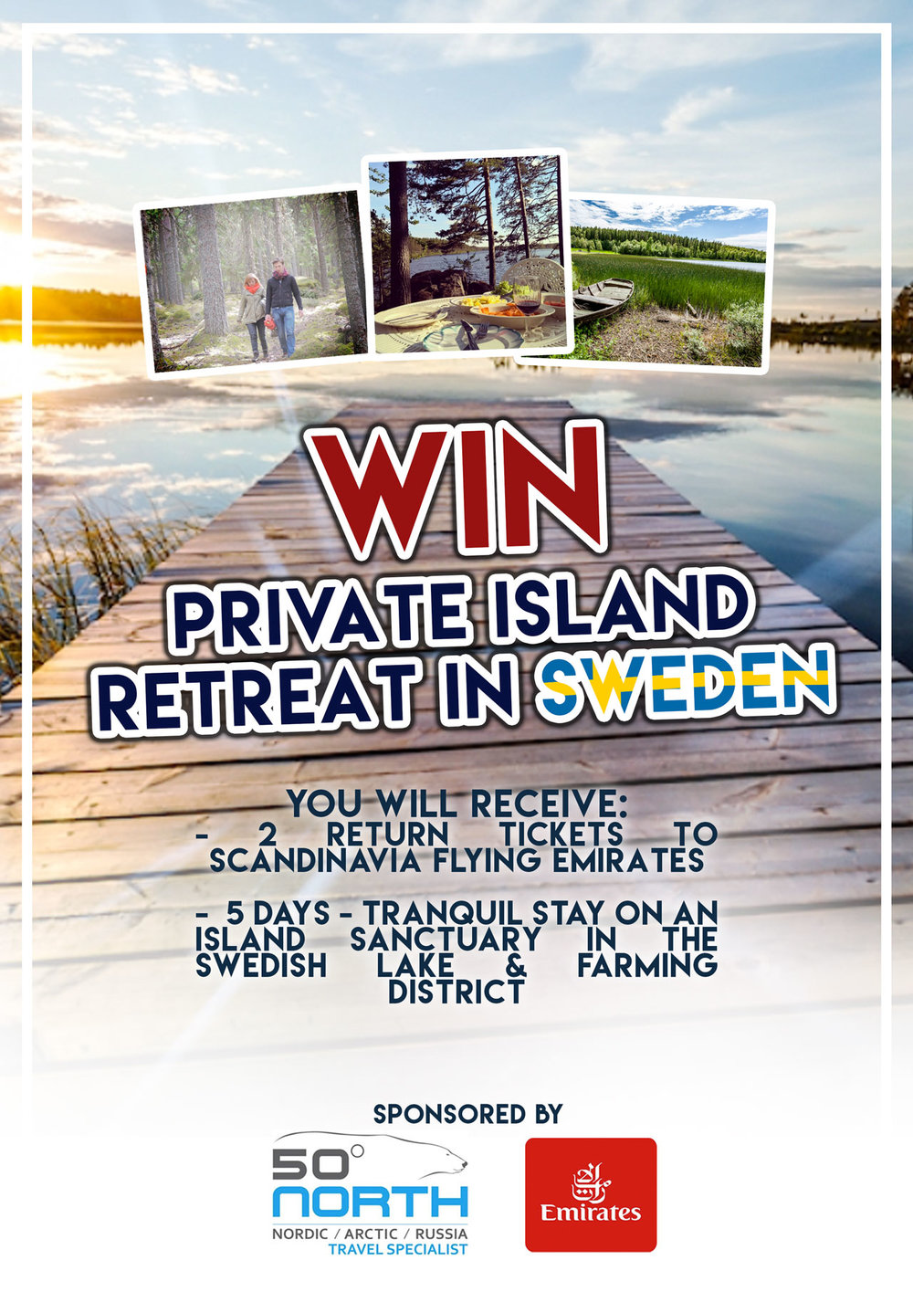 1st Prize - Return Flights for 2 people to Scandinavian + a one week stay at a private island retreat in Sweden.Value: $11 000.00WINNER: Ticket Nr 1484Maikki Toivannen