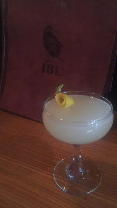 She wore lemon :  russian vodka, st. germain, ginger liqueur, lemon, ricard, bitters