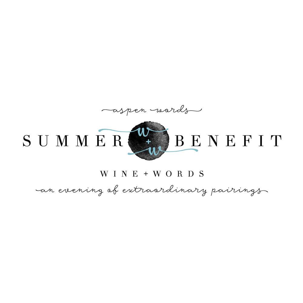 Salt + Sass Design: Aspen Words Summer Benefit Logo