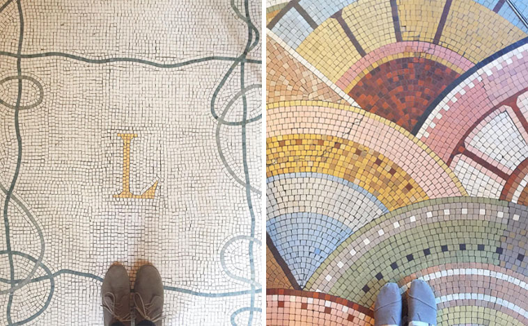 Just a couple of the amazing floors i spotted across Paris ( L is for Laduree - the best macaroons EVER )