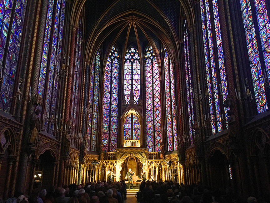 Truly a soul-stirring concert at the incredible Sainte Chapelle !