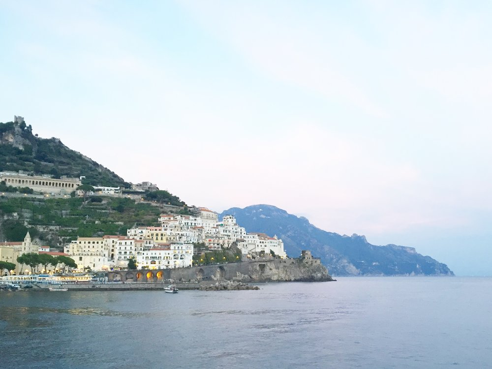 Amalfi at dusk, Slow Art Retreat 2016