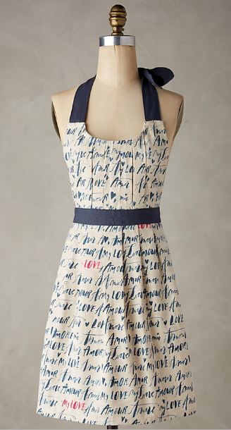 Language of Love Apron, one size, $32