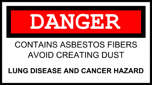 Asbestos hidden in building materials