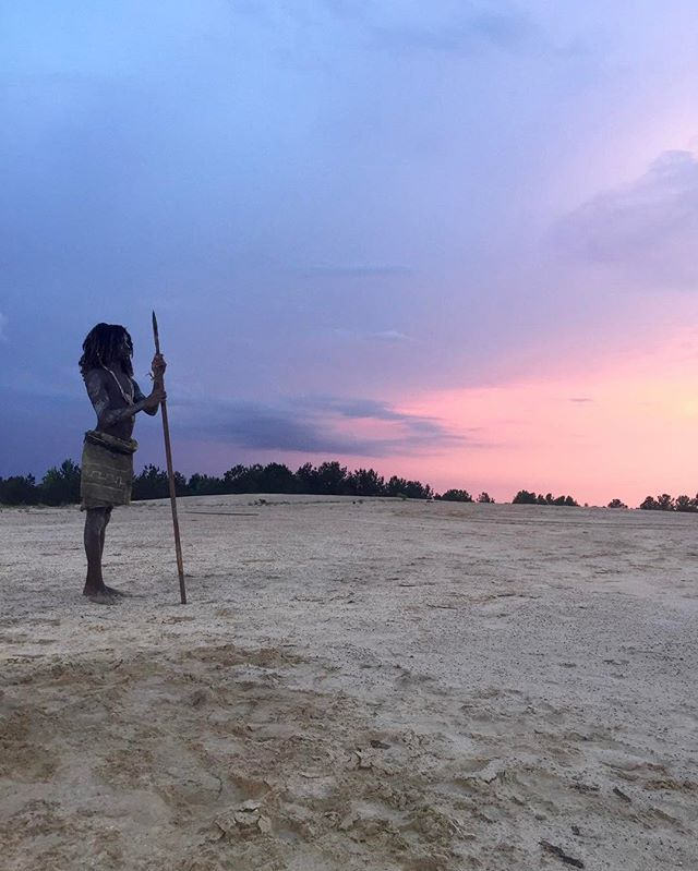 Young Kojo -- finding his mark in the Louisiana Deserts -- #nativethefilm #louisiana  #sibley #desert #redepicdragon #filmtexas #houstonfilm #shortfilm #thriller #mtv #redepic #shreveport #lafilmprize #film #feature