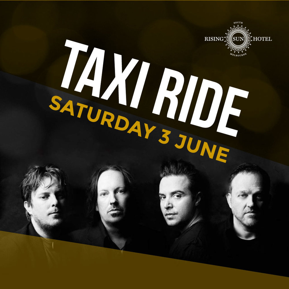 Come and watch the legendary Australian band Taxi Ride play tonight!  www.rshsm.com.au  #taxiride #gig @southmelbourne @risingsunhotel_southmelbourne #risingsunsouthmelbourne #livemusic #melbournepub   http://taxiride.com.au/about/