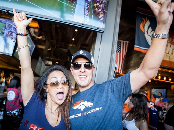 Broncos Super Bowl Party at Whiskey Row Scottsdale, 2/7/16