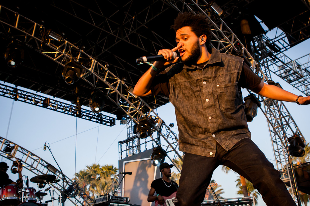 The Weeknd at Coachella 2012. Photo by Melissa Fossum.