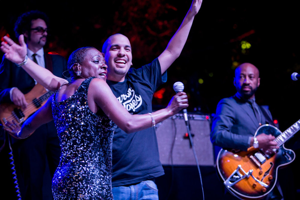 Sharon Jones at Heritage Square Park: Photo by Melissa Fossum