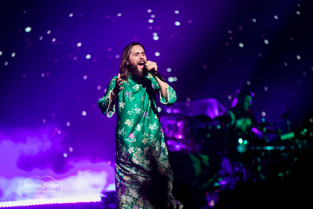 Jared Leto belts it out.