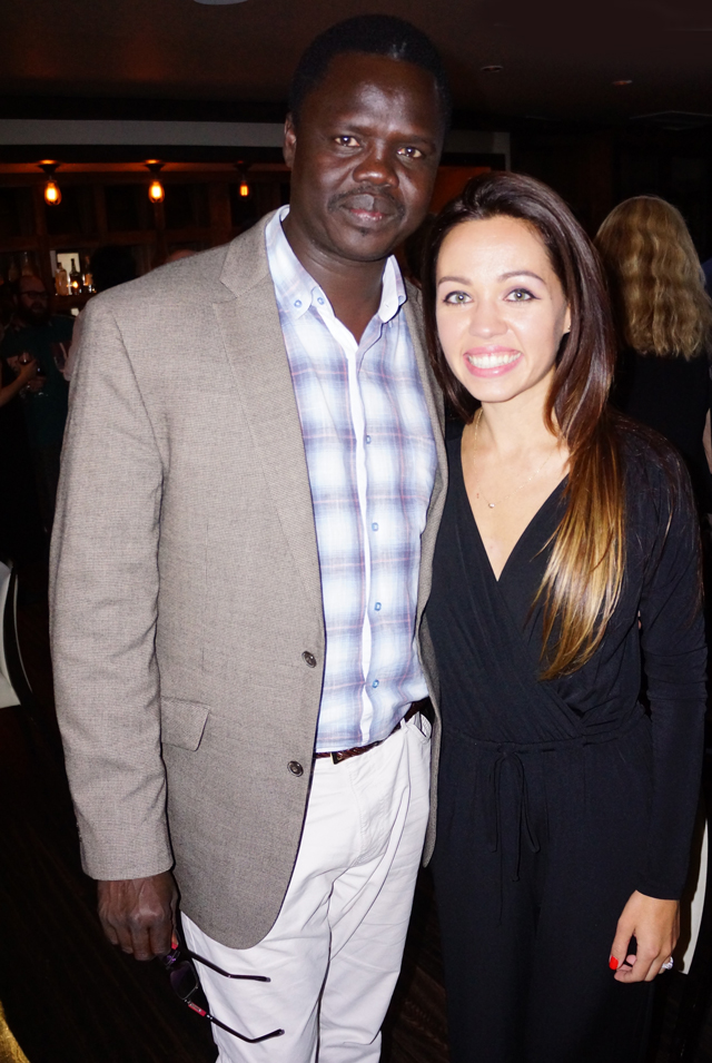 Mascha with Valentino Achak Deng at the VAD Fundraiser in Los Angeles