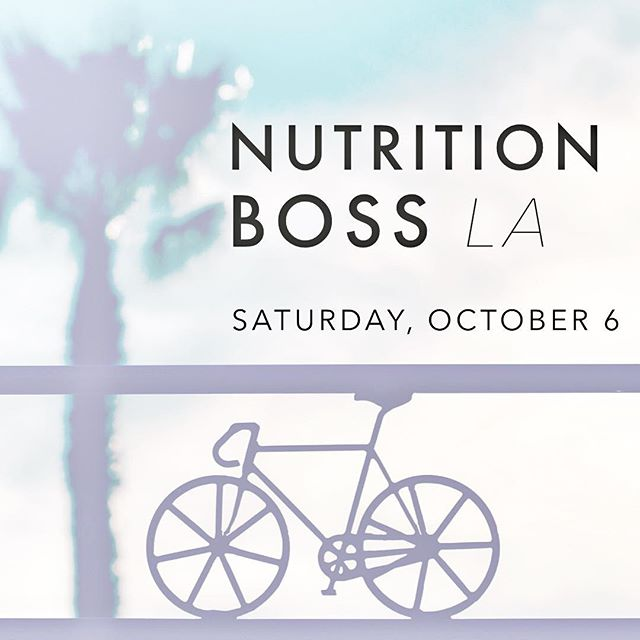 Calling all LA Nutrition Bosses😎! Our next event is just around the corner🎉. Join me and Monica from @wellseek for a fun day of delicious food😋, a @soulcycle 🚴🏻♀️class and networking with like minded people🙌🏼 . . The next #nutritionboss event will be on October 6th at Platform in Culver City. We will start with a sweaty💦 @soulcycle sesh in the morning and after the class, we will enjoy power snacks provided by @hopefoods 💚hummus and other amazing brands. . Our swag bags🎁 are also filled with the best goodies as usual! Sign up via the link in bio👆🏻! . . #laevents #dietitiansofla #nutritionbosses #healthycommunity #girlbosses #soulcycle #healthycommunity #dietitiansofinstagram