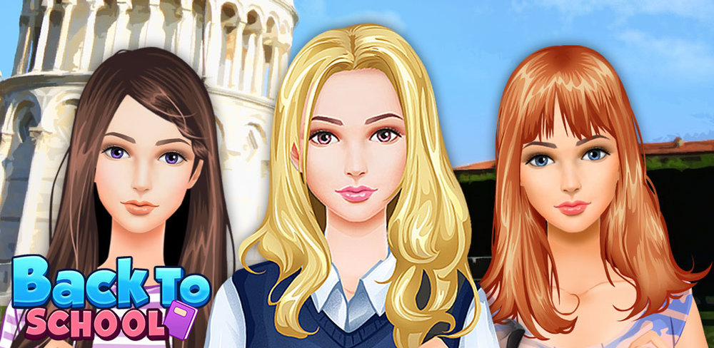 Salon - Back to school  Oh no, school is back! But no need to worry because this brand new salon game can make your school experience absolutely fantastic and fun!