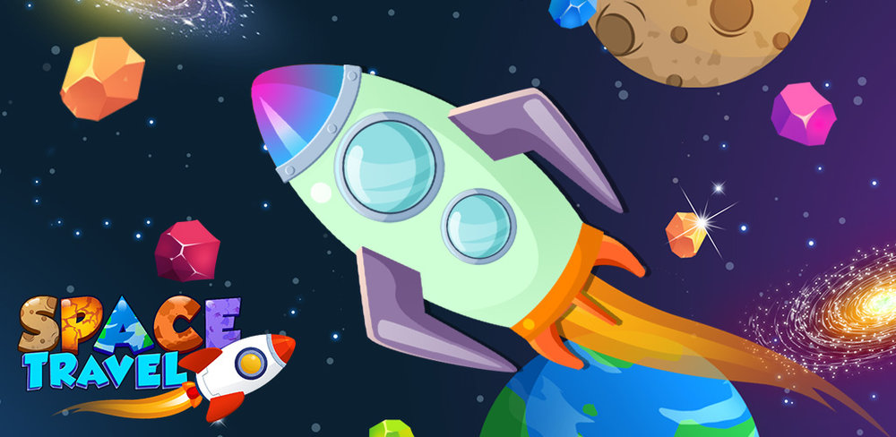 My Little Rocket Designer! Explore the universe, visit alien planets, and complete crazy mini games with Space Travel, a fun and unique game for kids as old as adults or as young as a baby!