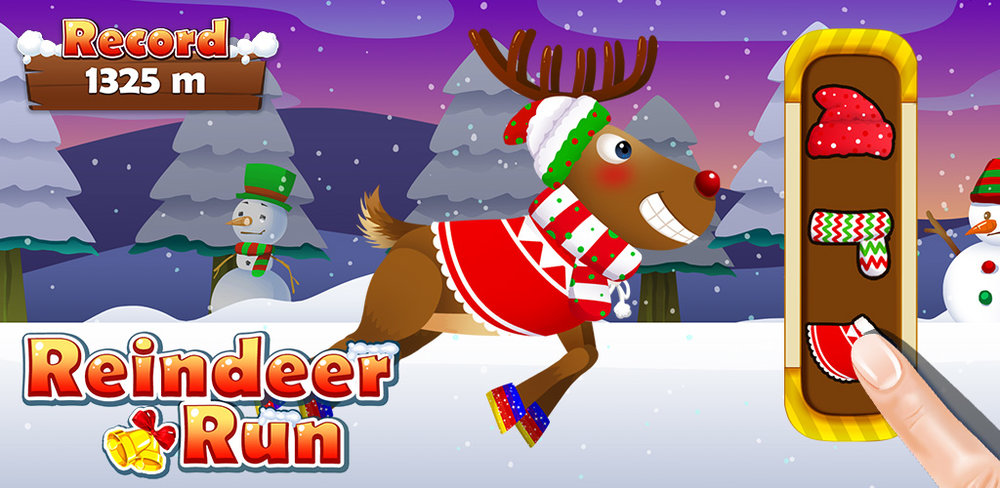 My Santa's Reindeer Fun Run Jump, run and play! See how far you can sprint in this fun winter time challenge for kids.