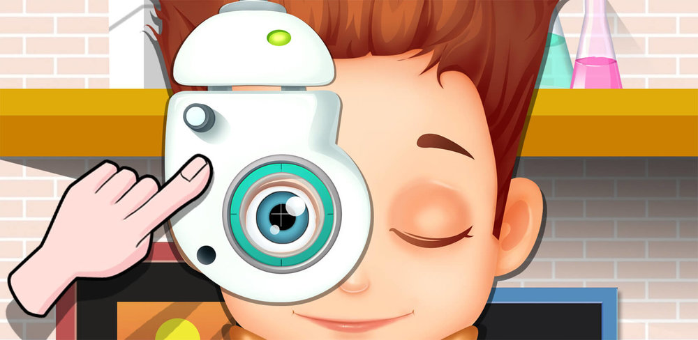 Little Eye Doctor 2  Little Eye Doctor 2 is a fun emergency hospital game kids can play that gives them all kinds of medical tools to help rescue patients from poor eyesight and vision.