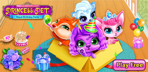 Princess Pet Hair Salon  Color, style and dress up cute princess pets-leopard, puppy, kitty&squirrel