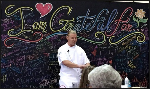 Chef CJ at the Philadelphia Women's Conference Healthy Cooking Demo