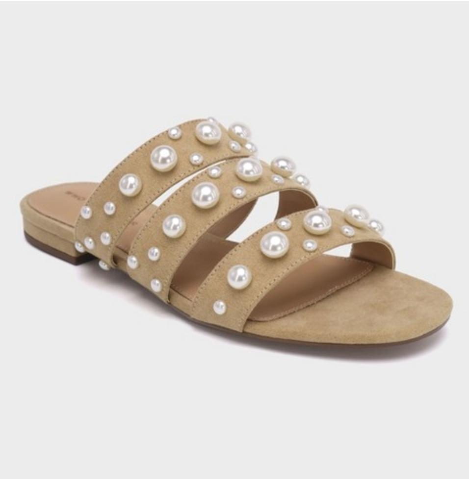 Neutral pearl slides, $35