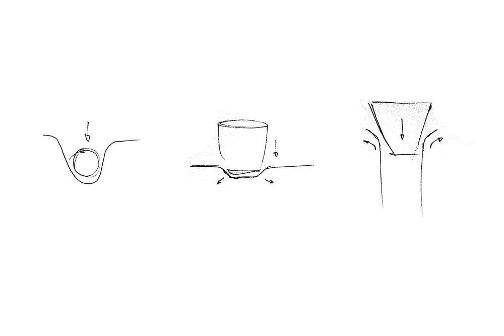 Press Espresso Set sketch by Daniel Kamp