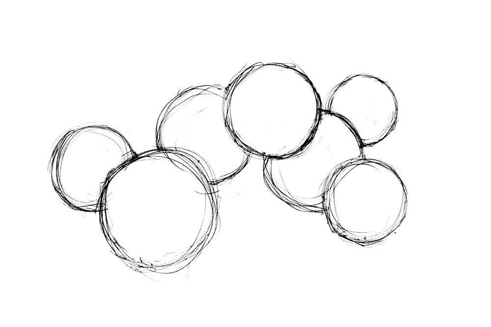 Orbit Tea Set sketch by Daniel Kamp