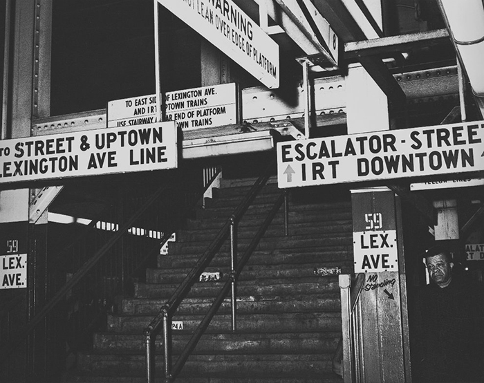 1968年紐約地鐵指標原始設計,圖片出自 New York Transit Museum.