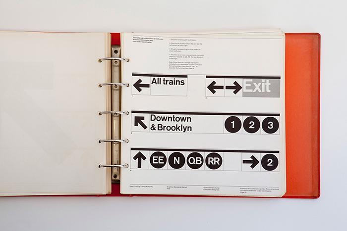 紐約地鐵視覺標準手冊,圖片出自 Jesse Reed.
