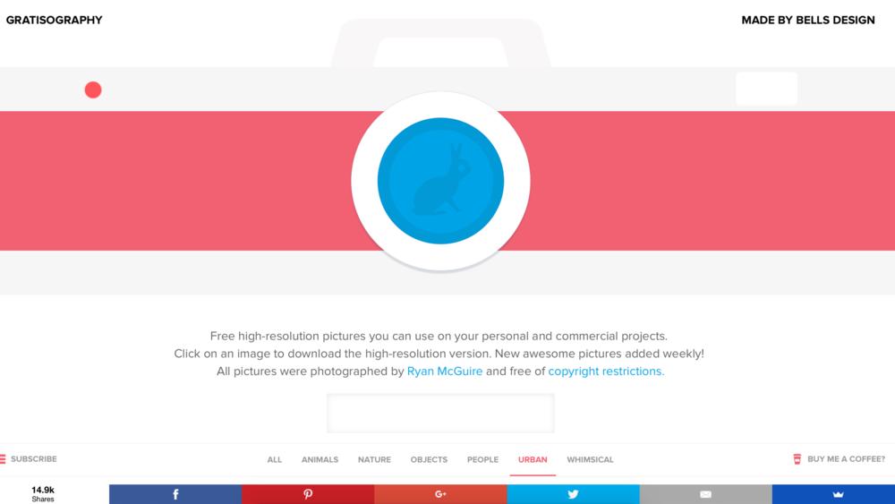 Gratisography   強調設計感及空間情境的免費圖庫,風格前衛