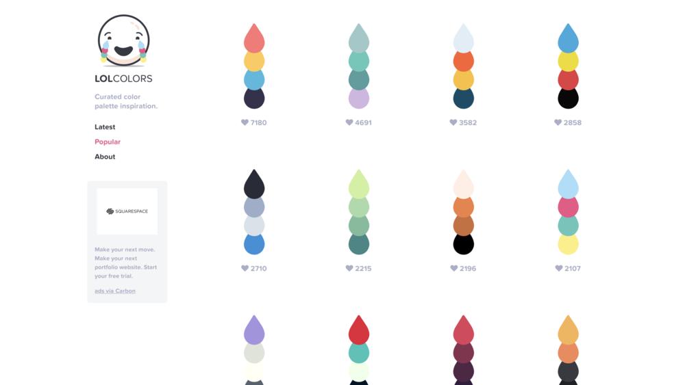 LOL COLOR   由一名設計師在 24 小時內架設的配色主題網站,操作相當便利